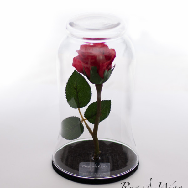 Стъкленица с роза